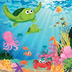 Life Under The Sea Vector Art | Getty Images