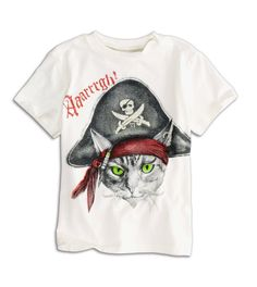 "American Eagle Outfitters ""77 Kids"" pirate cat t shirt   (Custom sized)"