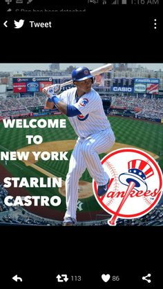 Welcome too The New York Yankees Starlin Castro