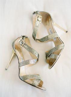 48c5635faa87 Modern Jimmy Choo wedding shoes  Justin DeMutiis Photography Rose Gold  Wedding Shoes