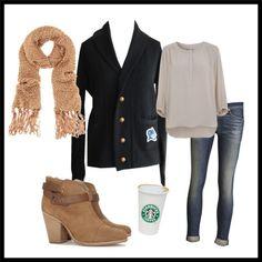 Shawl Collar Cardigan for a coffee date