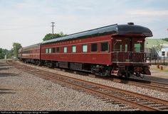 PRR... PRR 120 Pennsylvania Railroad Business Car at Orange, Virginia by George W. Hamlin