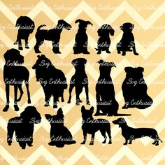 Dog breeds SVG, Dogs silhouette svg, Dogs bundle SVG cut files, Cricut, kawaii, Dxf, PNG, Vinyl, Eps, Cut Files, Clip Art, Vector, by SVGEnthusiast on Etsy