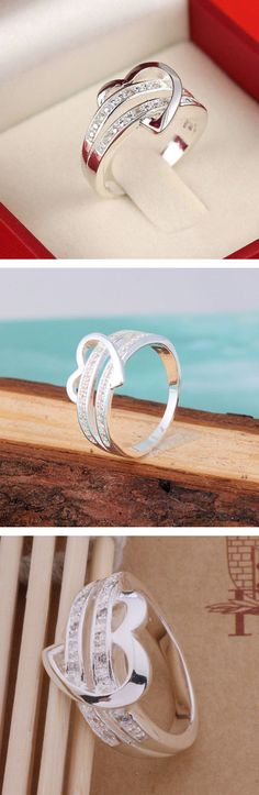 *** Unbeatable deals on fine jewelry at http://jewelrydealsnow.com/?a=jewelry_deals *** Get this hot heart ring made with 925 sterling silver. Great for your girlfriend, engagement, wedding, or just to show that special someone how much you love them. #heart