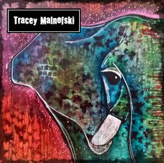 Finished elephant. Daler-Rowney acrylic inks in Primary Magenta, Marine Blue, Brilliant Yellow. Golden fluid acrylics in Turquoise Phthalo, and Nickel Azo Yellow.  If you like my art, please like my page: https://www.facebook.com/pages/Art-of-Tracey-Malnofski/979864408691439 or check out my website: artoftraceymalnofski.com thanks so much!!! Tracey