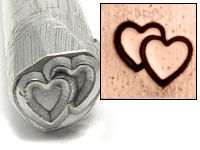 Beaducation: Double Heart Design Stamp [DS041]