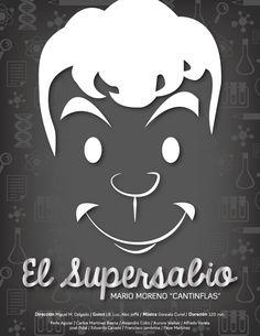"""El Supersabio (1948). Película de la Época de oro del Cine Mexicano protagonizada por Mario Moreno """"Cantinflas"""", y dirigida por Miguel M. Delgado."""