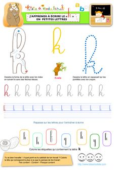 apprendre à écrire le k