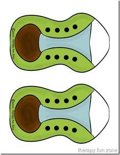 Shoe Tying Printable Practice Shoe   Therapy Fun Zone