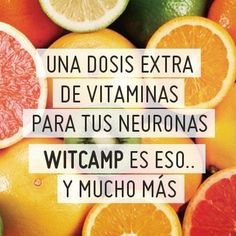 Para alimimentar tus neuronas no hay nada más refrescante que una buena dosis de vitaminas, de vitaminas made in Witcamp. ¿Te apetece probarlas?