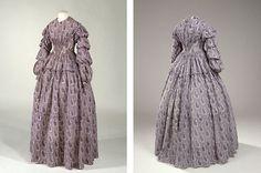 Sommerkjole i bomuld og hør, 1850'erne