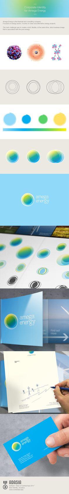 Amega Energy Corporate Identity by Temur Sadi, via Behance