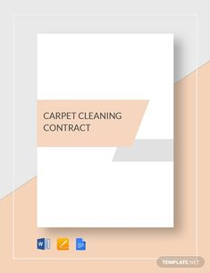 Cleaning Contract Template - Word (DOC) | Google Docs | Apple (MAC) Pages | Template.net Cleaning Contracts, Custom Carpet, How To Improve Relationship, Cleaning Business, Google Docs, Word Doc, How To Clean Carpet, Letter Size, Clean House