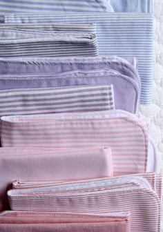 Burp cloths made from unexpected fabric - so cute and practical!