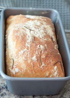 No Knead Rosemary Garlic Bread by Served From Scratch
