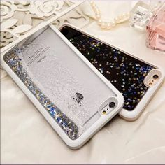 iPhone 6 water glitter case iPhone 6 water glitter case. For the iPhone 6 and 6s. $18 each. I do not wish to trade. I only hAve the blue and silver cases as shown in the last 2 pictures. Nwt and no scratches on the cases as shown in the pictures also. Comment below if you would like 2 for $36 or if would like just one for $18 and I can post it separate for you to purchase! (: these are actually the coolest and most entertaining phone cases ever lol Accessories Phone Cases
