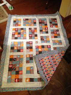 Baby boy quilt- Modern design