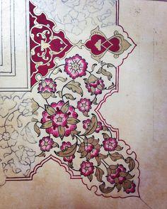 Motifs Islamiques, Islamic Motifs, Islamic Art Pattern, Pattern Art, Islamic Calligraphy, Calligraphy Art, Fabric Painting, Painting & Drawing, Illumination Art
