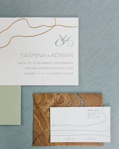 This collaboration really gave me an opportunity to stretch beyond the style Im known for...into something more elemental and essential ... and I loved it! We hand-inlaid gold chain as an elegant and sophisticated nod to the Utah landscape.    Featured on @100_layercake || Florist: @DecorationInc | Planning  Design: @VivinceEventStudio | Stationery: @atelierazure | Venue: @nhmuevents @nhmu | Photographer: @KateOsborne | | Wardrobe  Casting: @FarashaStyle | Jewelry:  @OCTannerjewelers | Gown…
