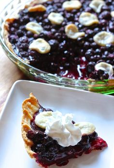 The Very Best Blueberry Pie