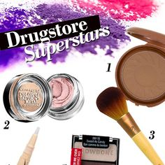 Drugstore makeup has a special place in my makeup-mental heart. After all, it's the first makeup that most of us are able to get our hands on. I remember me and my friend picking out CoverGirl eye shadows that we would share—frosty silver, shimmery pink, lilac. And let's not forget Bonne Bell! Can I get a what what for Dr. Pepper lip balm? Nostalgia aside, there are some really great gems to be found in the aisles of your local Walgreen's or Target.