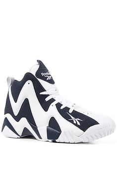27ced977950 Reebok Shoes Kamikaze II Mid in Athletic Navy and White   Karmaloop.com -  Global