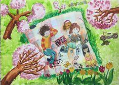 자동 대체 텍스트를 사용할 수 없습니다. Sweets Art, Spring Art, Art Education, Art For Kids, Projects To Try, Drawings, Artwork, Artist, Painting