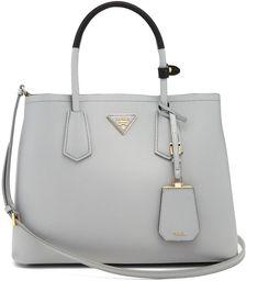 PRADA Double saffiano-leather bag