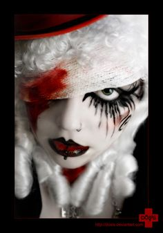 Make-Up Pics: Halloween Make-Up Ideas(found on a blog, couldn't find original)