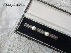 Antique pearl brooch real silver /real pearl by Nkempantiques