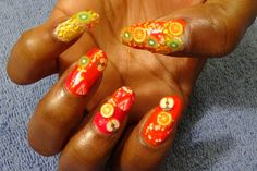 2.~*Tropical Fruit Breeze*~ Nails for 2 Days *Created by NueNew (+playlist)