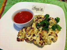 Coliflor asada con salsa de jitomate