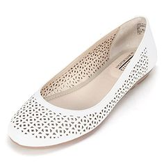 Cliffs BELITA Womens Flat White Smooth  85 M >>> You can find more details by visiting the image link.