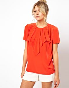 Find the best selection of ASOS Top With Origami Waterfall. Shop today with free delivery and returns (Ts&Cs apply) with ASOS! Summer Blouses, Summer Shirts, Asos Tops, Love Fashion, Womens Fashion, Free Clothes, Mens Clothing Styles, Fashion Addict, Couture Fashion