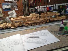 Dora rail gun model by Mike Ragonese underway