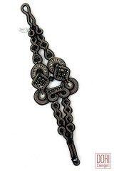 Madison designer black evening bracelet by Dori Csengeri