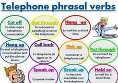 TELEPHONE phrasal verbs #learnenglish https://plus.google.com/+AntriPartominjkosa/posts/Mu59G6o3GyC
