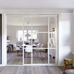 schlanke stahl glas schiebet r pinteres. Black Bedroom Furniture Sets. Home Design Ideas