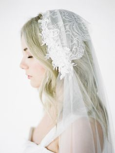 Lace+bridal+cap+with+veil   ...   Wedding Hair Accessories, Wedding Garters and Bridal Headpieces