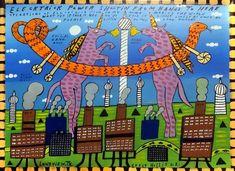 Ein etwas rätselhaftes Acryl des US-Amerikaners Crazy Hollis All Over The World, Ufo, Lonely, The Outsiders, Thankful, Symbols, Artist, Random Stuff, Artists