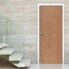 Interior plywood door