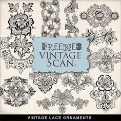 Far Far Hill: Freebies Kit of Vintage Style Lace Ornaments