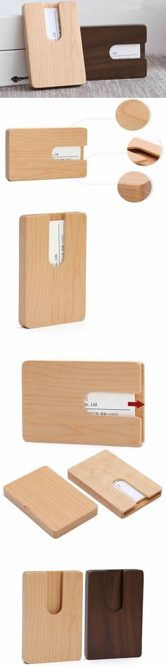 Fashion Wooden Slide-Out Type Business Name Card Holder Woodworking For Kids, Woodworking Supplies, Woodworking Workshop, Woodworking Plans, Woodworking Projects, Business Card Case, Business Card Holders, Small Projects Ideas, Diy Projects