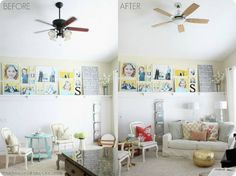 Love this ceiling fan redo. We need to do something similar in our home.