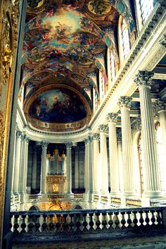 Cathedral with ceiling frescoes in Italy