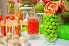 (Orange party 10 of 11 ) Beautiful details—orange dessert table—love this on trend look (& orange isn't my color)❣ Debbie Kennedy • Flickr