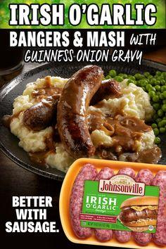 Scottish Recipes, Irish Recipes, Irish Meals, Sausage Recipes, Pork Recipes, Cooking Recipes, Holiday Recipes, Dinner Recipes, Dinner Ideas