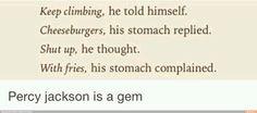 You gotta love Percy. ;)