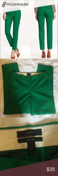 "J Crew Cafe Capri size 2 Gently used excellent used condition.   27"" inseam.  100% wool. J. Crew Pants Capris"