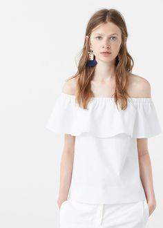 Popeline-top - Blusen für Damen | MANGO Deutschland
